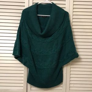 Anne Klein ribbed dolman tunic sweater tunic top M